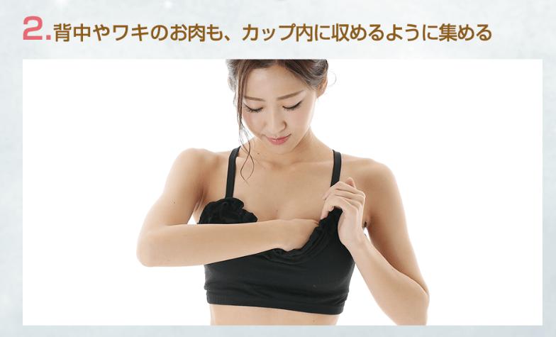 エクスグラマー胸の入れ方
